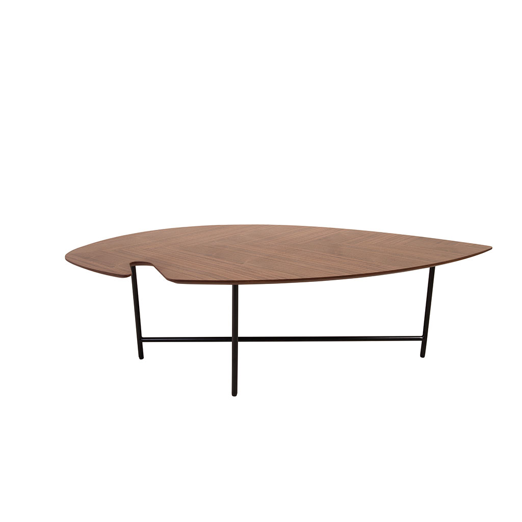 img-Table basse plaqué noyer 120 cm Leaf