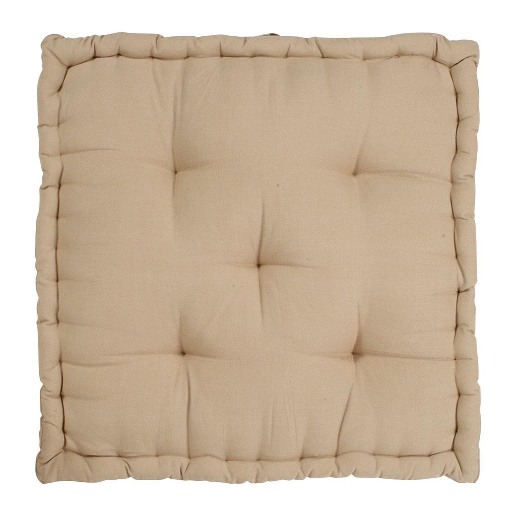 Nouveau Comptoir de Famille - Coussin matelas chambray beige en coton LD-88