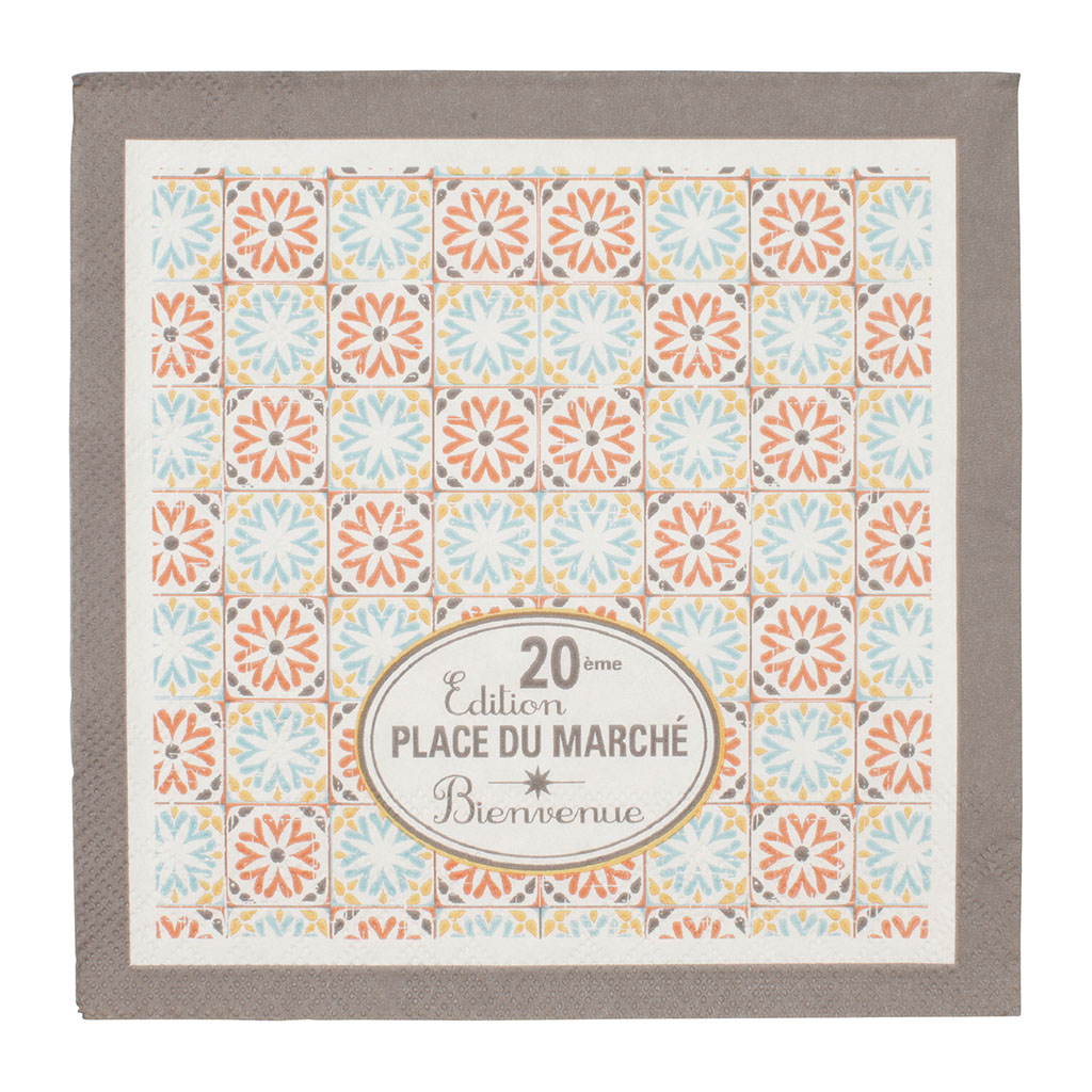 img-Paquet de 20 serviettes invitation en papier