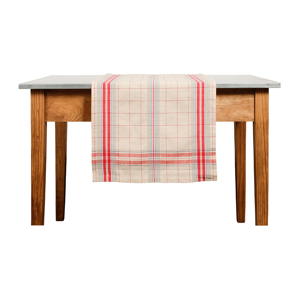 img-Chemin de table batignolle rouge en coton