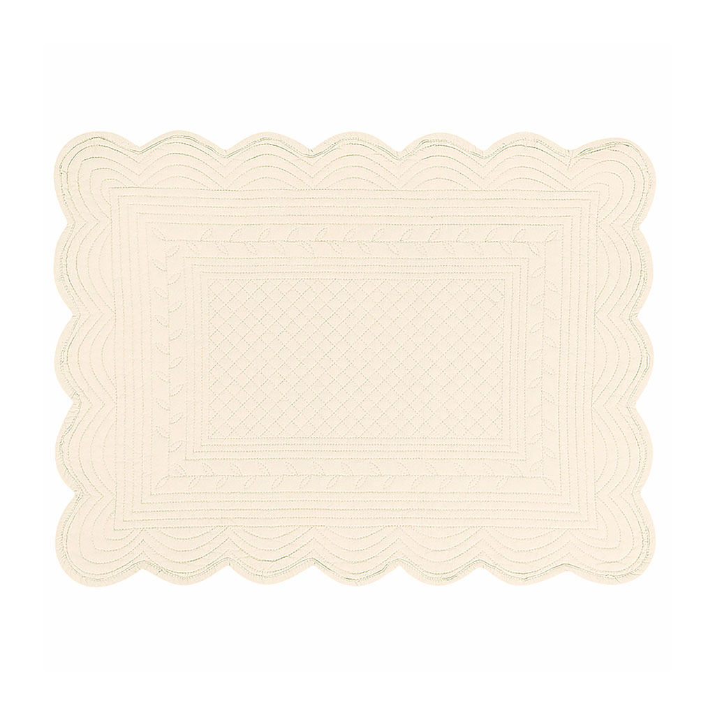img-Set de table rectangulaire ivoire en coton