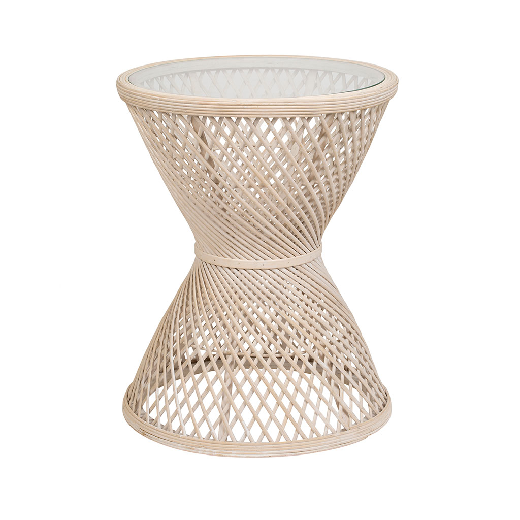 img-Table d'appoint  emrys Naturel en Bambou, Verre
