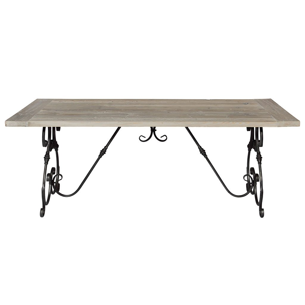 img-Table en vieux pin naturel et fer forge
