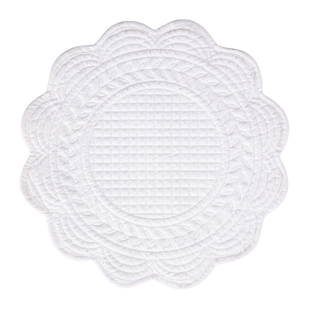 img-Set de table rond boutis blanc en coton