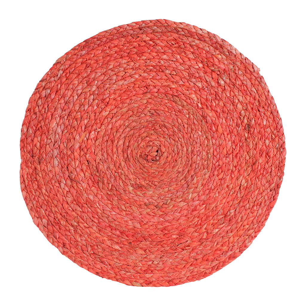 img-Set de table rond cordine corail