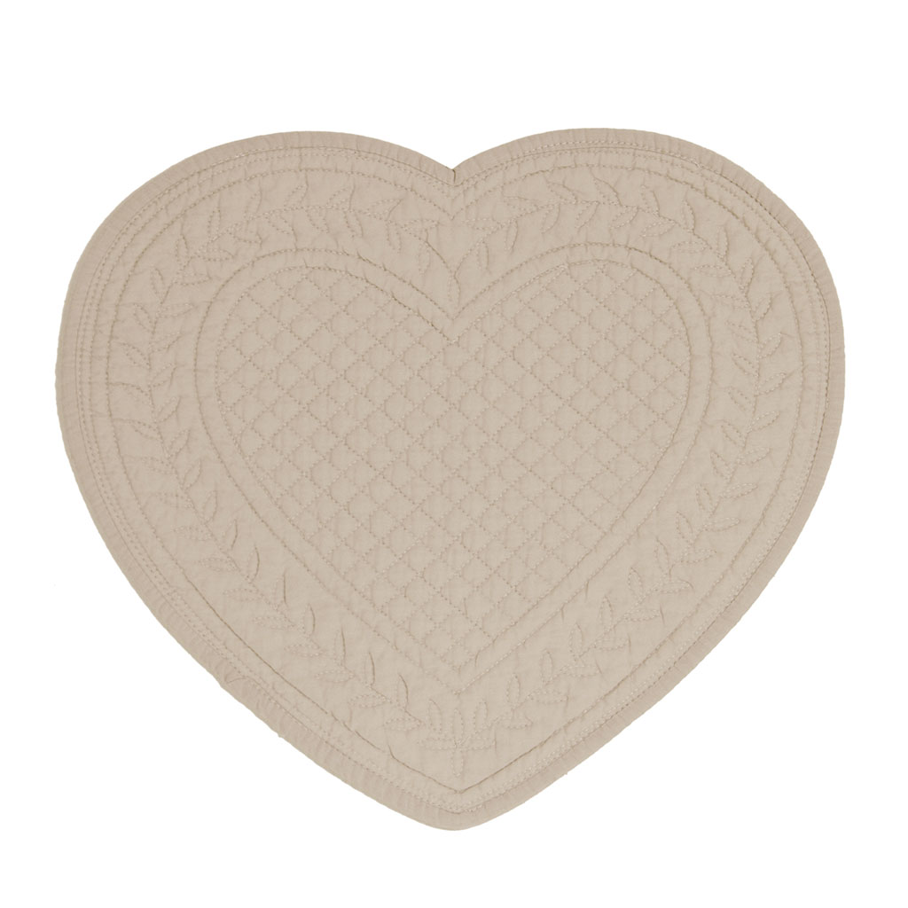 img-Set de table coeur boutis mastic en coton