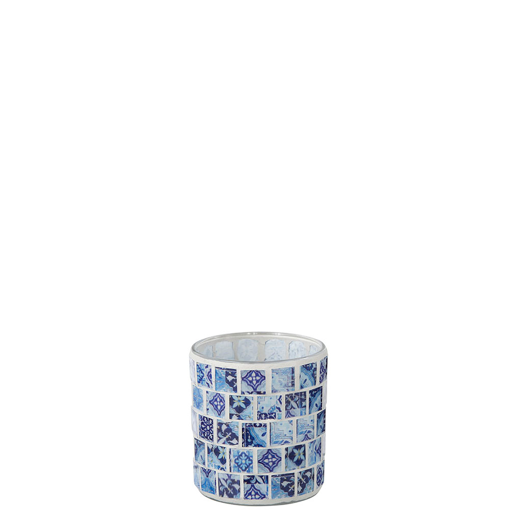 img-Photophore mosaique bleu jeans small