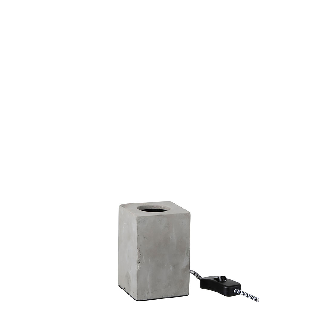 img-Lampe carree ciment gris
