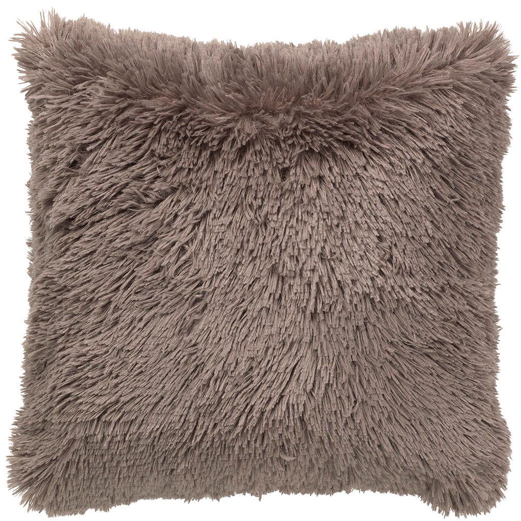 img-Coussin fluffy 45x45cm taupe
