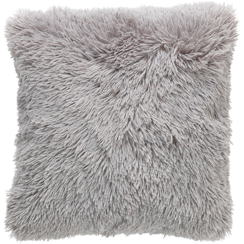 img-Coussin fluffy 45x45cm gris clair