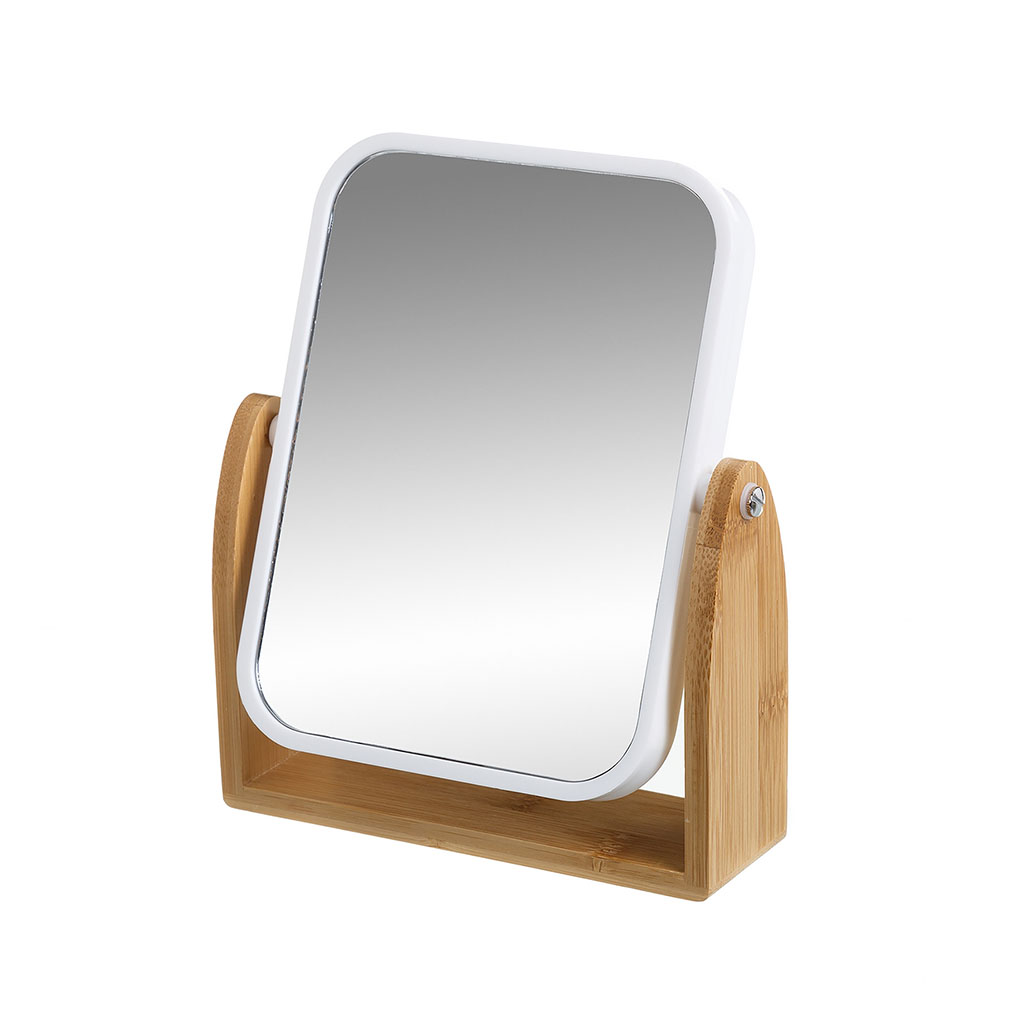 img-Miroir carre grossissant blanc