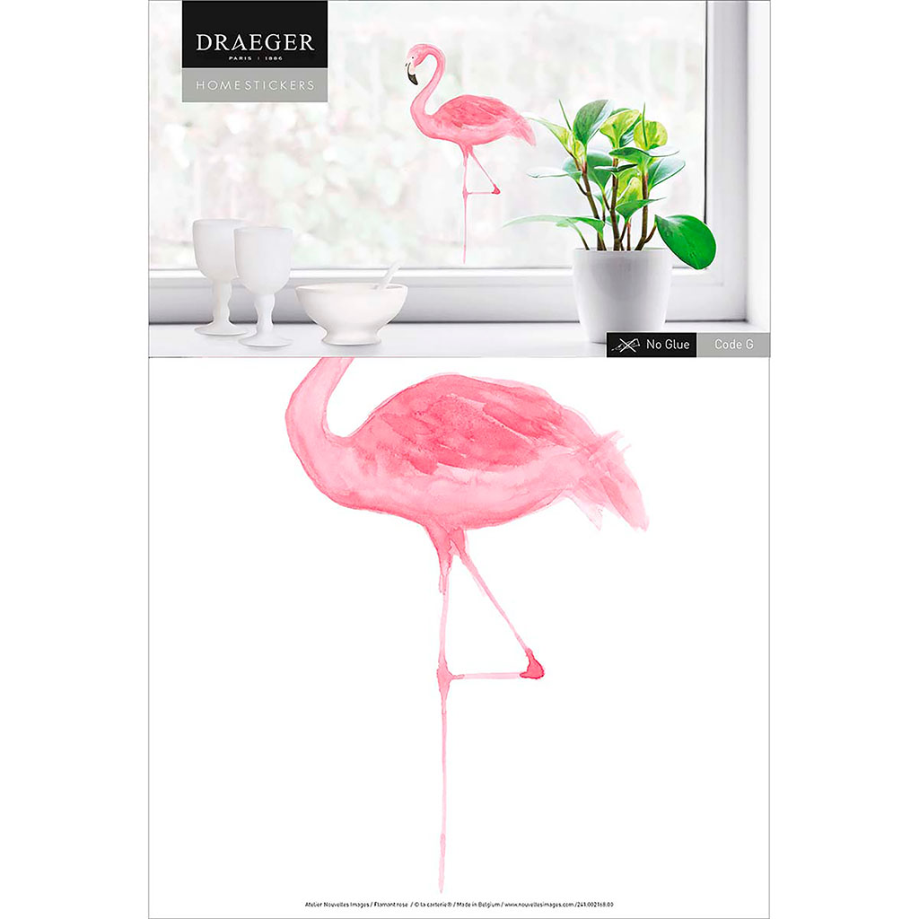 img-Stickers fenetre flamant rose 24x36