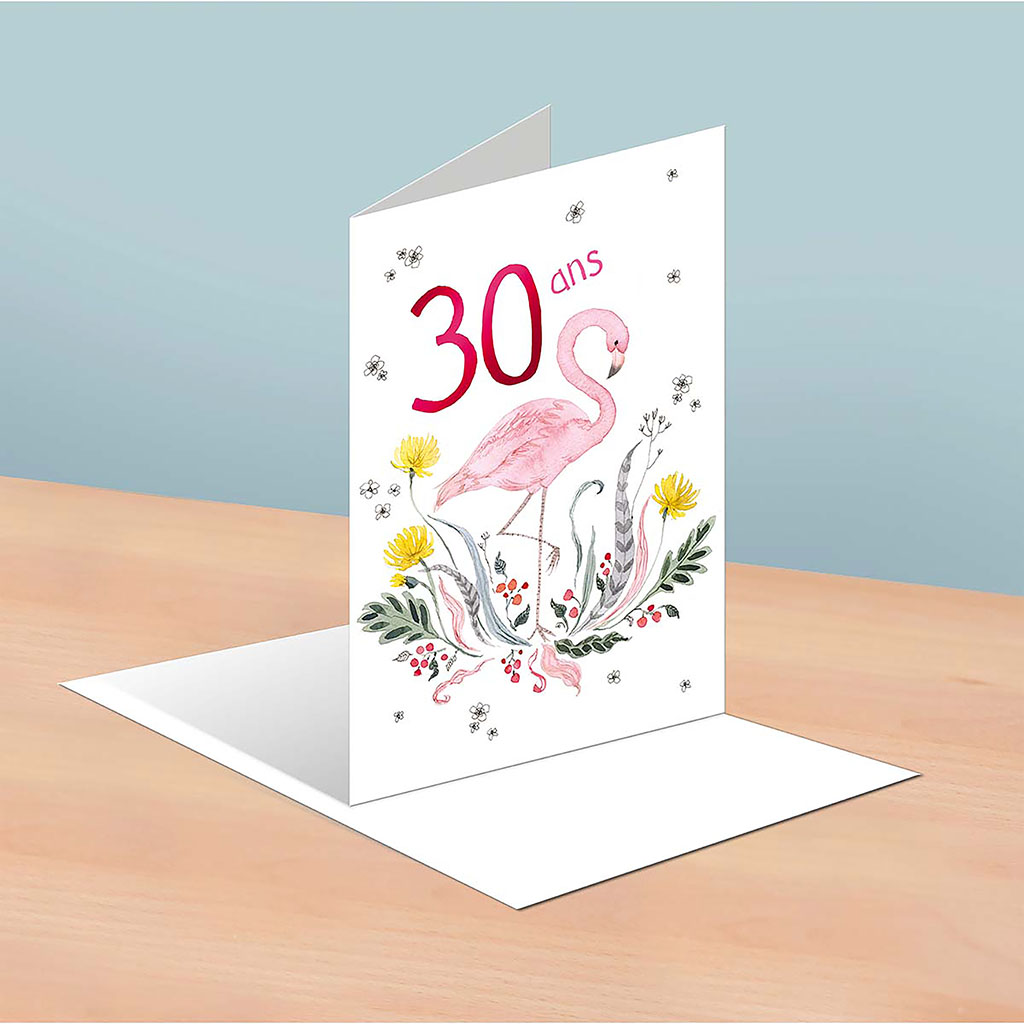 img-Carte 30 ans flamant rose