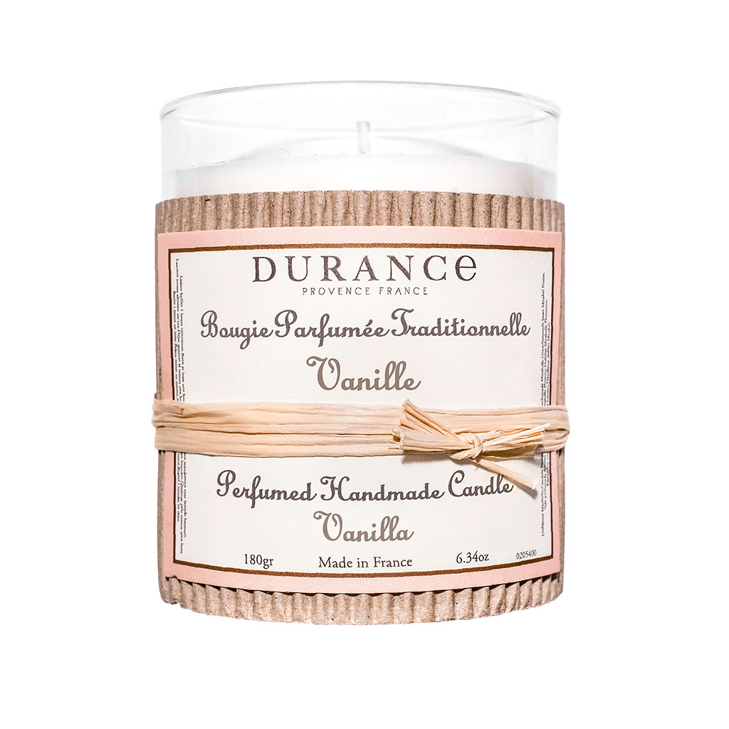 img-Bougie parfumée traditionnelle 180 gr vanille