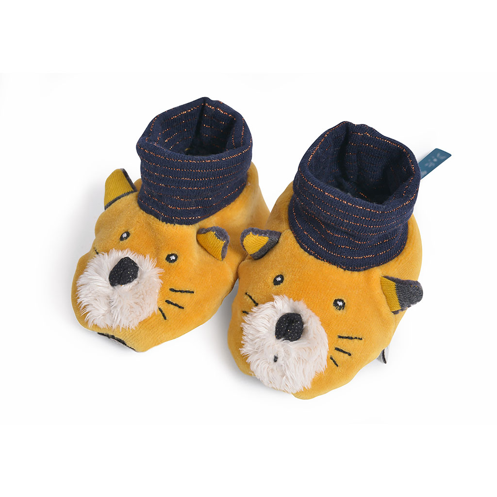 img-Chaussons chat moutarde lulu les moustaches