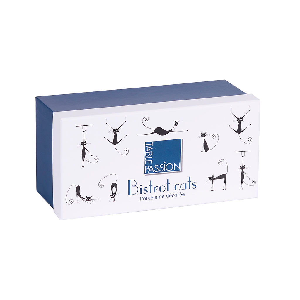 img-Coffret 2 bols s/pied bistrot chats 48cl multicolore