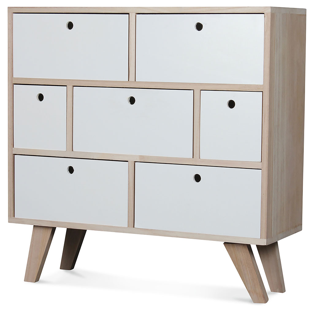 img-Commode boreal 7t blanc 69x25xh69cm