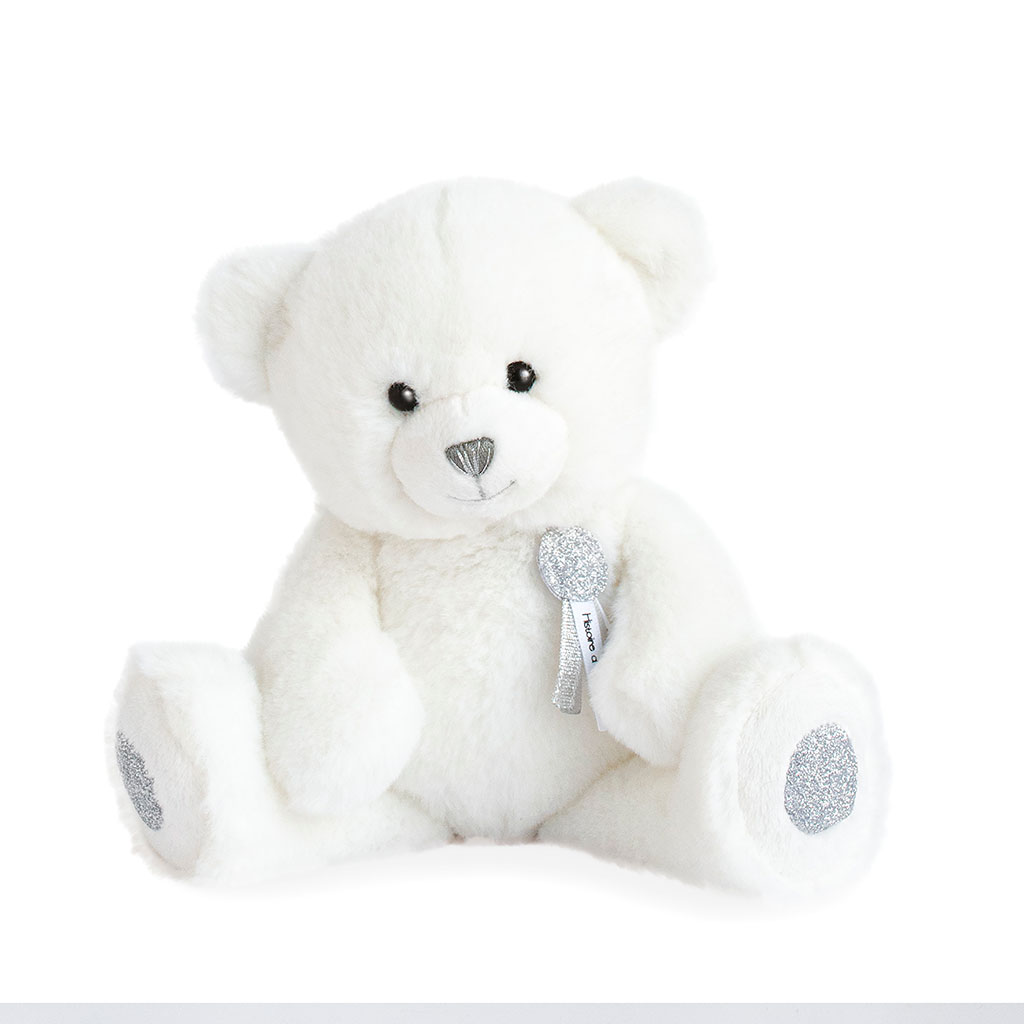 img-Peluche ours blanc 24cm - charms