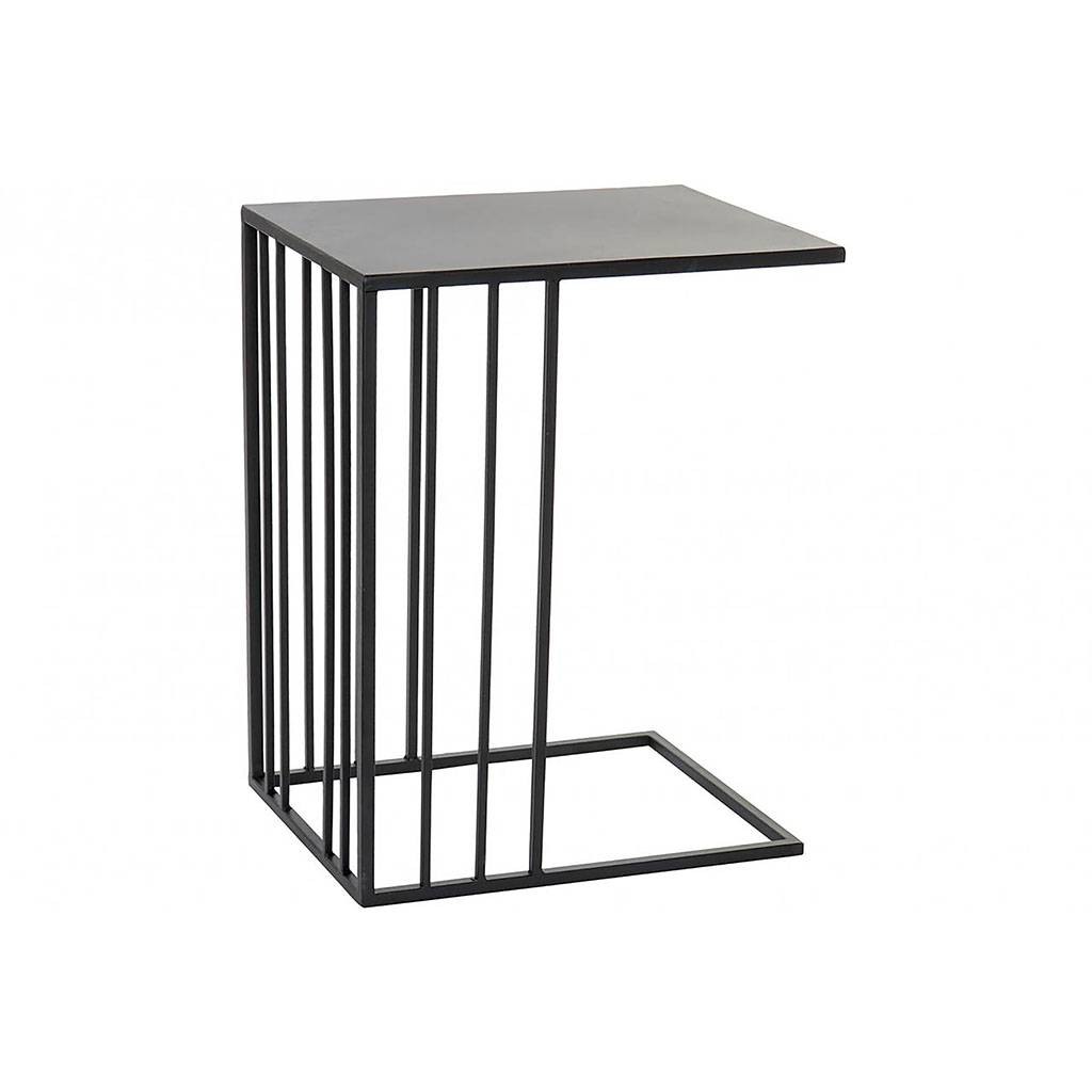 img-Table d'appoint fer forge 45x30x57 mat noir