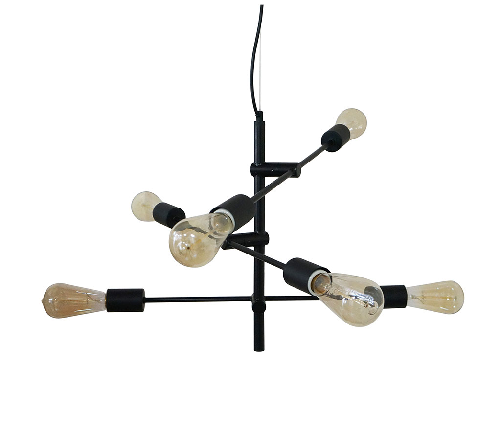 img-Suspension balancier noire 47x47xh45cm