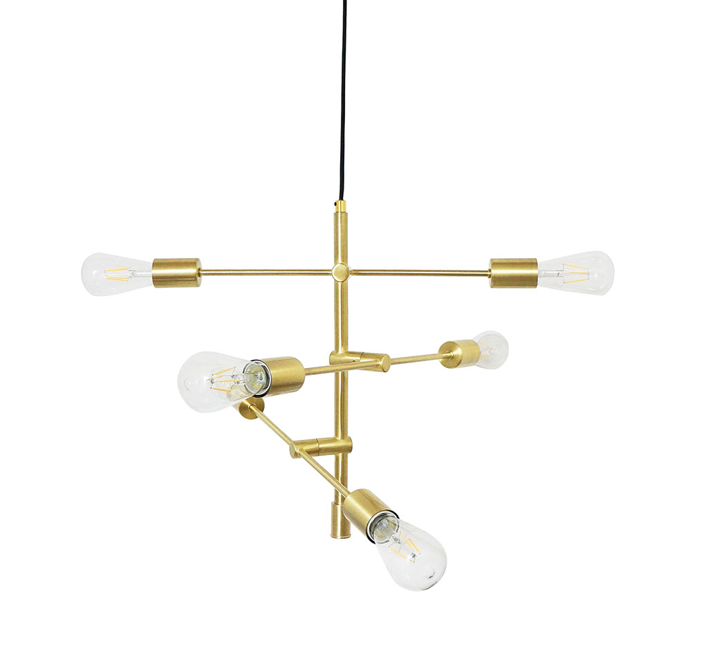 img-Suspension balancier laiton satine  47x47xh45cm