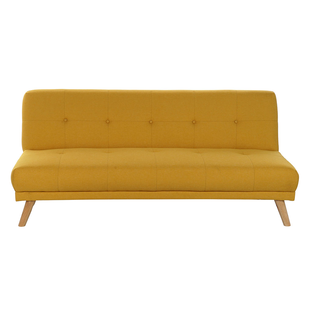 img-Canape convertible polyester bois 175x80x76cm jaune
