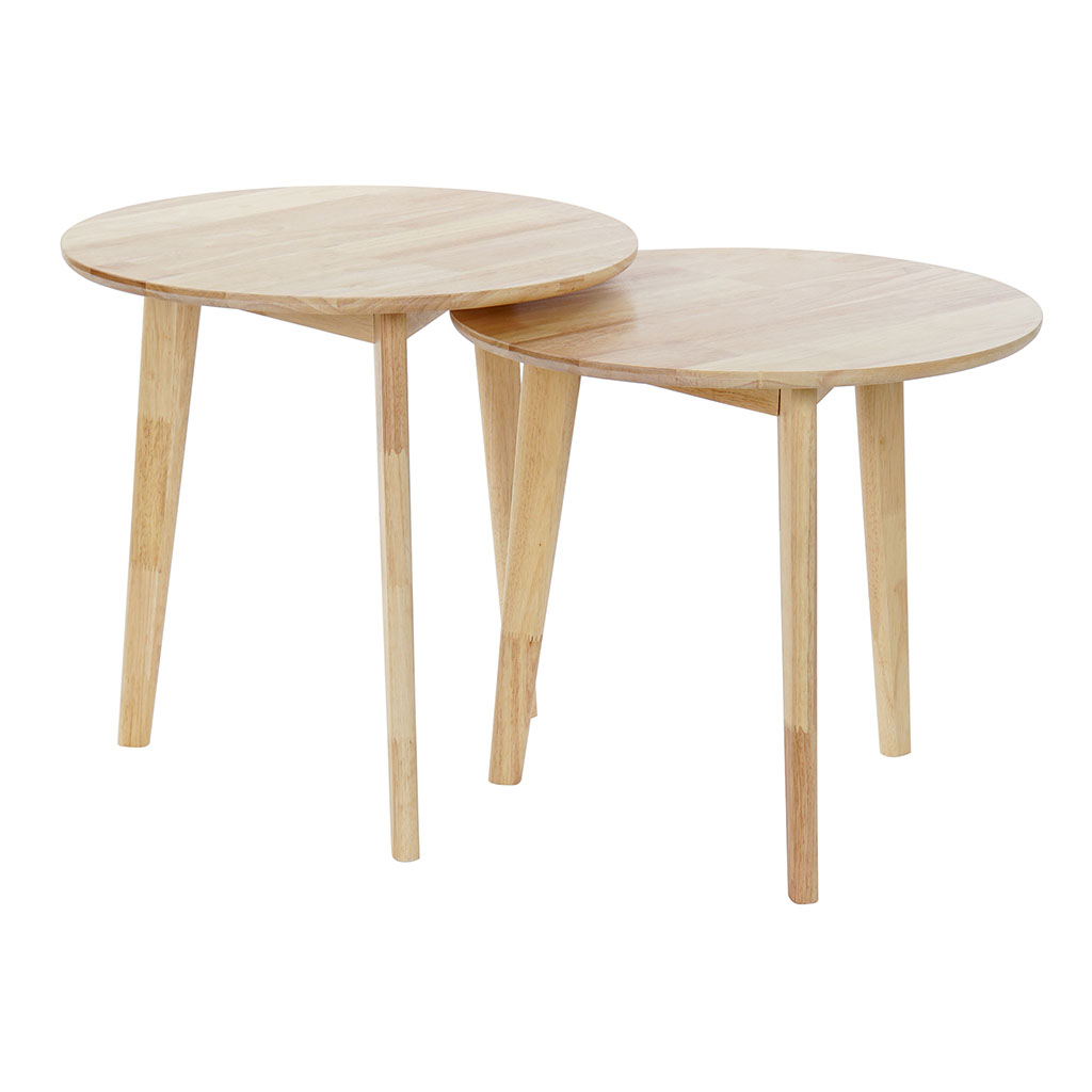 img-Set 2 tables gigognes hevea 50x50x49.5cm naturel