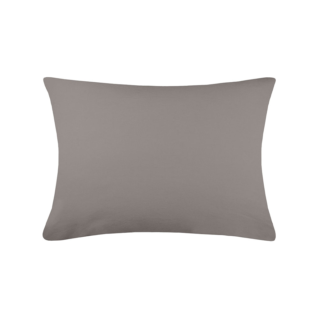 img-Taie cottage 50x70cm sac taupe 100% coton