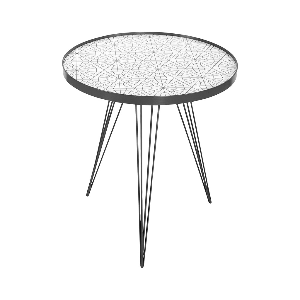 img-Table basse ronde blanche pieds metal