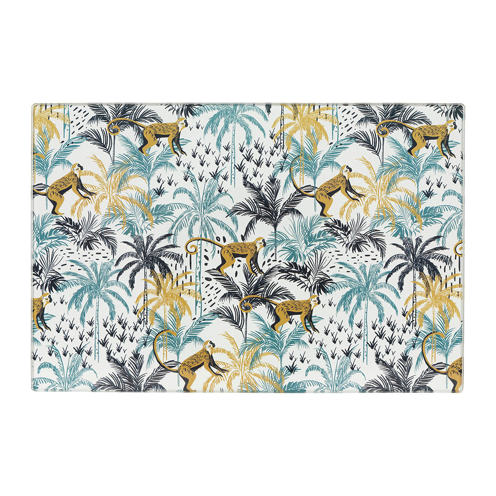 img-Planche a decouper palm vintage multicolor
