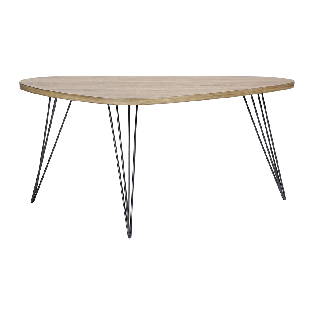 img-Table basse couleur chene pieds metal