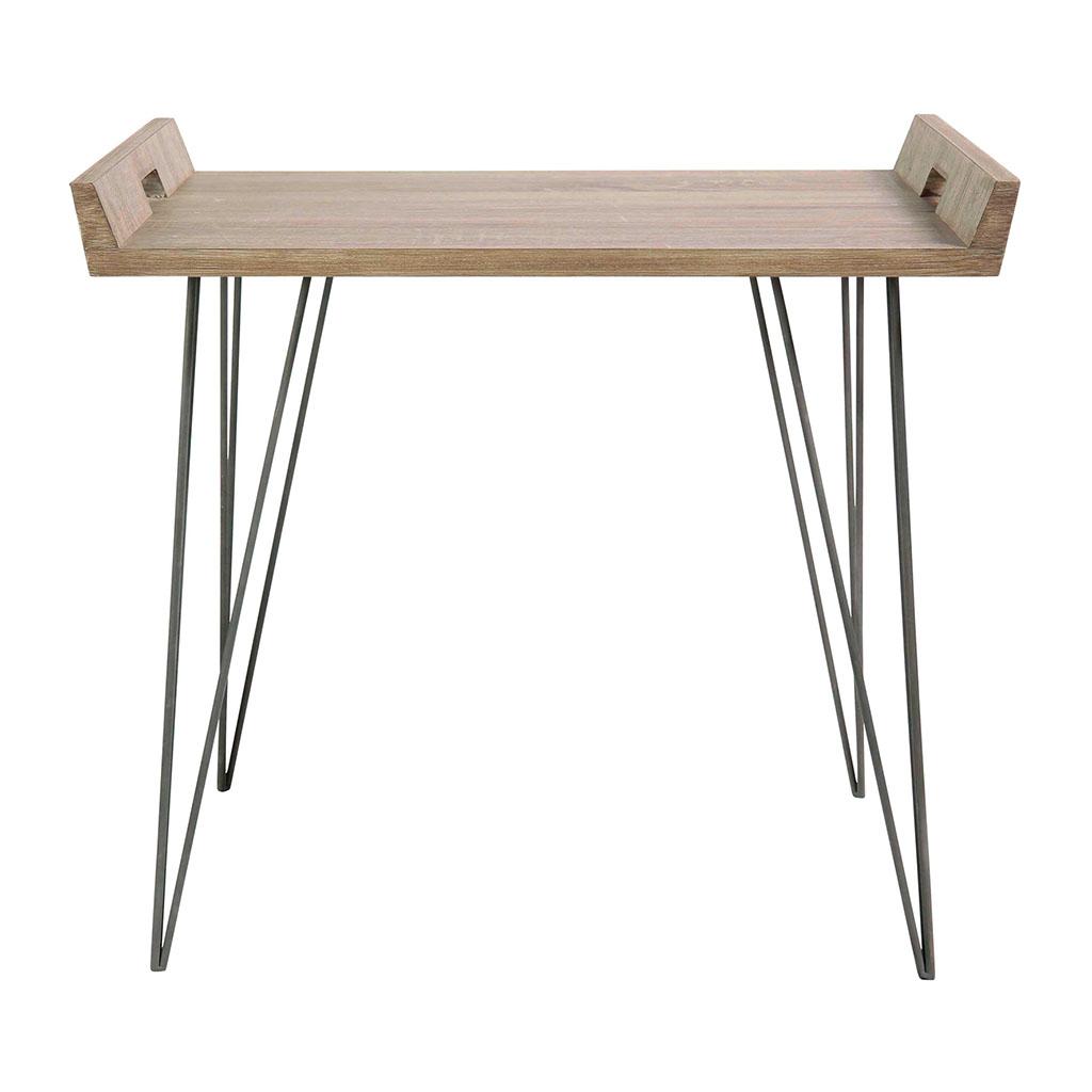 Sixties Metal Table En Couleur Chene Bois Pieds Basse dthrsQ
