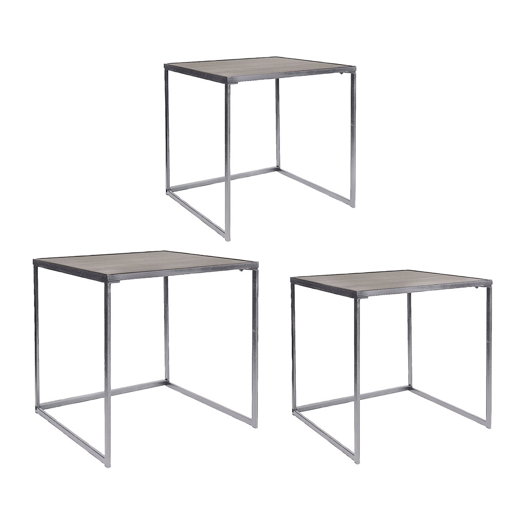 img-3 tables gigognes couleur chene pieds metal