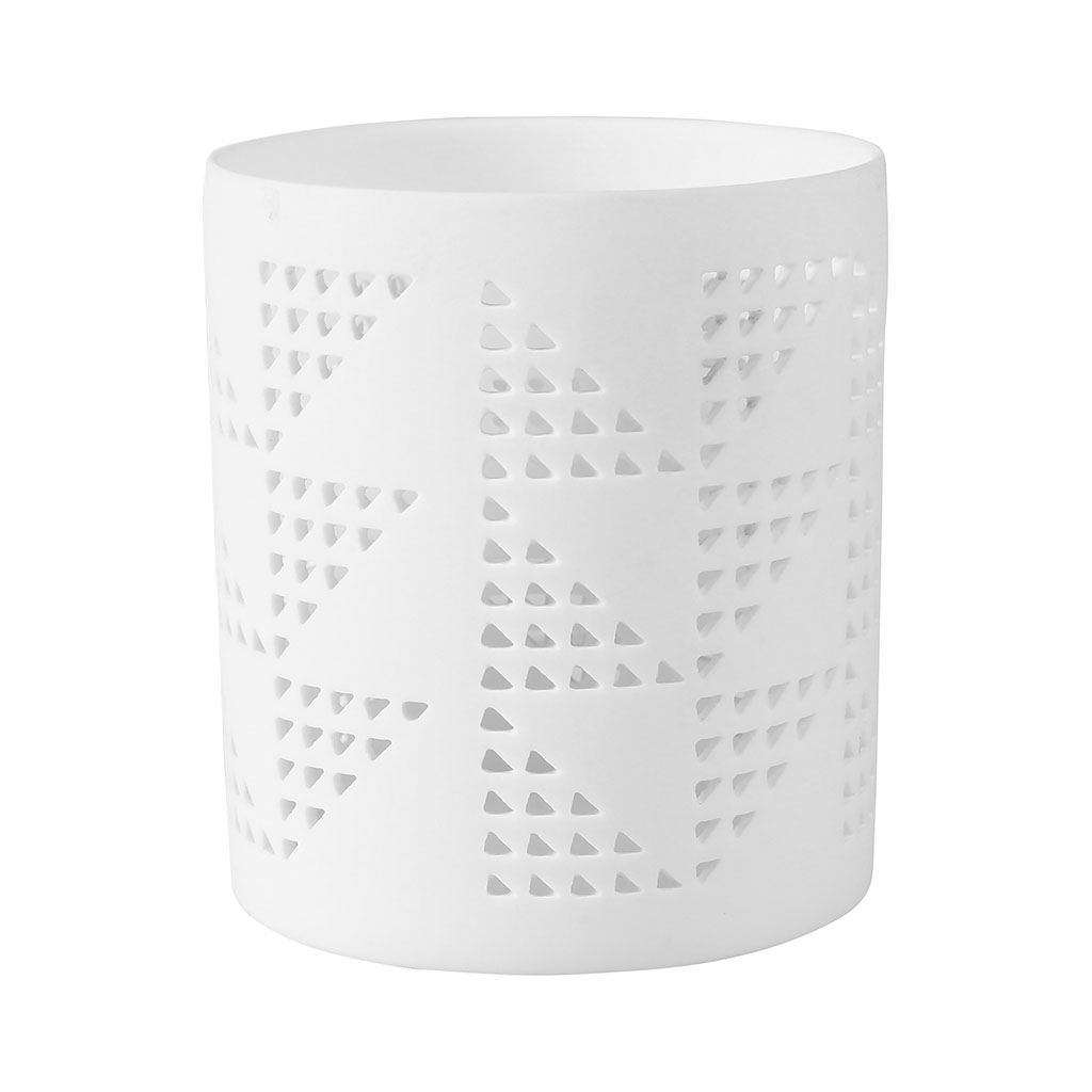 img-Photophore triangles blanc en porcelaine