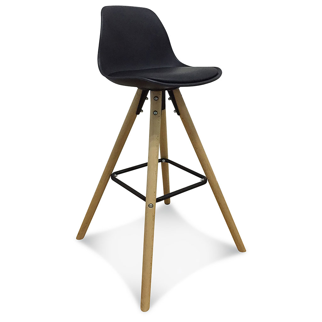 img-Chaise de bar Scandinave Noire