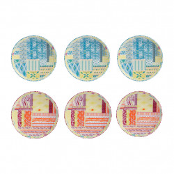 img-Coffret 6 mini assiettes copacabana en Porcelaine