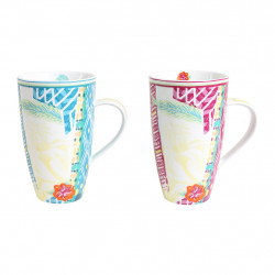 img-Coffret 2 mugs copacab Multicolore en Porcelaine