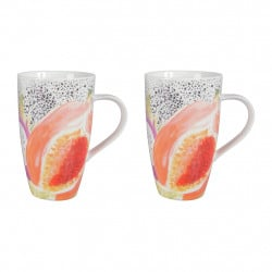img-Coffret 2 mugs passion Multicolore en Porcelaine