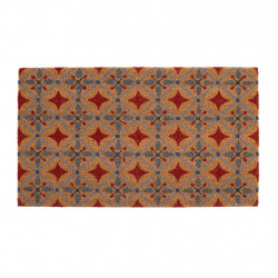 img-Paillasson carreau ciment rouge 73x43cm pvc,coco