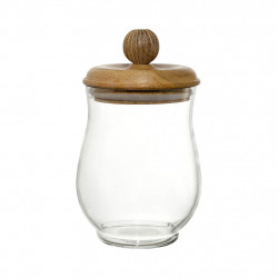 img-Bocal a/couvercle carreau ciment naturel d11xh18.5cm verre,manguier