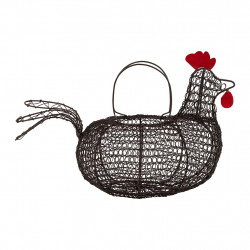 img-Panier poule carreau ciment naturel 31x21xh19cm fer
