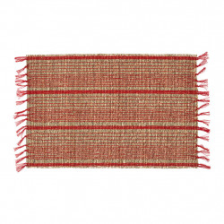 img-Set de table damier naturel et rouge