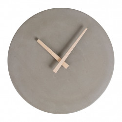 img-Pendule time gris clair d27x4cm ciment