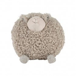img-Deco mouton shaggy gris 20x20xh20cm polyester