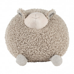 img-Deco mouton shaggy gris 30x30xh30cm polyester