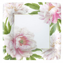 img-Assiettes carrees en papier x8 blush grand modèle