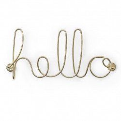 img-Decoration murale hello dore 32.4x14.7x7.2cm