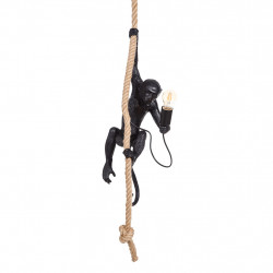 img-Suspension singe noir. polyuresin 35x35x72cm