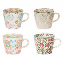 img-Coffret 4 tasses boheme 30cl multicolore