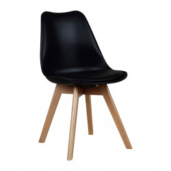img-Chaise Scandinave noire